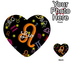 Leo Floating Zodiac Name Playing Cards 54 (Heart)