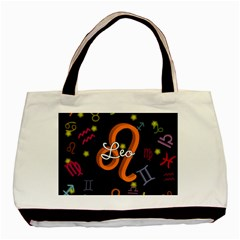 Leo Floating Zodiac Name Basic Tote Bag (Two Sides)