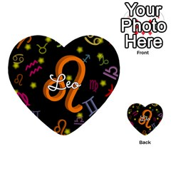 Leo Floating Zodiac Name Multi-purpose Cards (Heart)