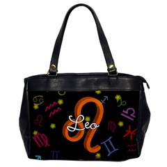Leo Floating Zodiac Name Office Handbags
