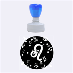 Leo Floating Zodiac Name Rubber Round Stamps (medium)