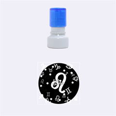 Leo Floating Zodiac Name Rubber Round Stamps (Small)