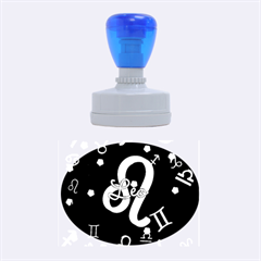 Leo Floating Zodiac Name Rubber Oval Stamps