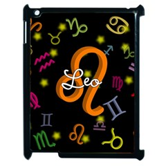 Leo Floating Zodiac Name Apple iPad 2 Case (Black)