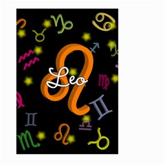 Leo Floating Zodiac Name Large Garden Flag (Two Sides)