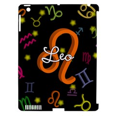 Leo Floating Zodiac Name Apple iPad 3/4 Hardshell Case (Compatible with Smart Cover)