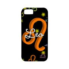 Leo Floating Zodiac Name Apple iPhone 5 Classic Hardshell Case (PC+Silicone)