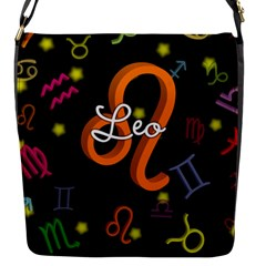 Leo Floating Zodiac Name Flap Messenger Bag (S)