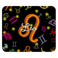 Leo Floating Zodiac Name Double Sided Flano Blanket (Small)
