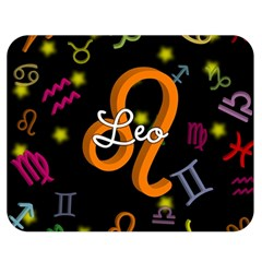 Leo Floating Zodiac Name Double Sided Flano Blanket (Medium)