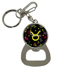 Taurus Floating Zodiac Name Bottle Opener Key Chains