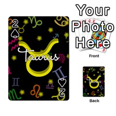 Taurus Floating Zodiac Name Playing Cards 54 Designs