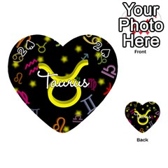 Taurus Floating Zodiac Name Playing Cards 54 (Heart)