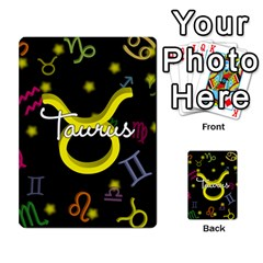 Taurus Floating Zodiac Name Multi-purpose Cards (Rectangle)