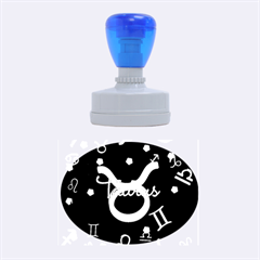 Taurus Floating Zodiac Name Rubber Oval Stamps