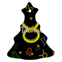 Taurus Floating Zodiac Name Ornament (Christmas Tree)