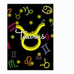 Taurus Floating Zodiac Name Small Garden Flag (two Sides)