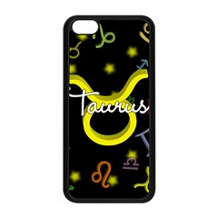 Taurus Floating Zodiac Name Apple iPhone 5C Seamless Case (Black)