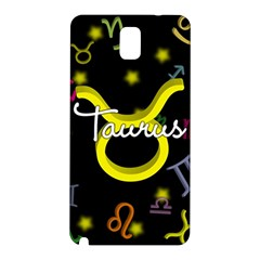 Taurus Floating Zodiac Name Samsung Galaxy Note 3 N9005 Hardshell Back Case