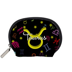 Taurus Floating Zodiac Name Accessory Pouches (Small)