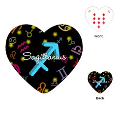 Sagittarius Floating Zodiac Name Playing Cards (Heart)