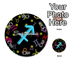 Sagittarius Floating Zodiac Name Playing Cards 54 (Round)
