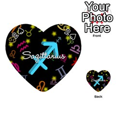 Sagittarius Floating Zodiac Name Playing Cards 54 (Heart)