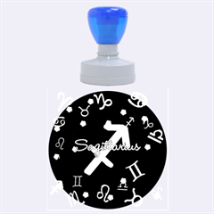 Sagittarius Floating Zodiac Name Rubber Round Stamps (Large)