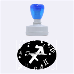 Sagittarius Floating Zodiac Name Rubber Oval Stamps