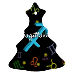 Sagittarius Floating Zodiac Name Christmas Tree Ornament (2 Sides)