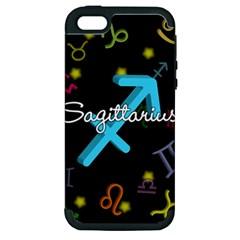 Sagittarius Floating Zodiac Name Apple iPhone 5 Hardshell Case (PC+Silicone)