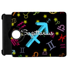 Sagittarius Floating Zodiac Name Kindle Fire HD Flip 360 Case