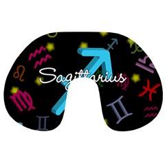 Sagittarius Floating Zodiac Name Travel Neck Pillows