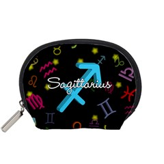 Sagittarius Floating Zodiac Name Accessory Pouches (Small)