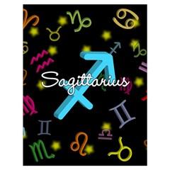 Sagittarius Floating Zodiac Name Drawstring Bag (Large)