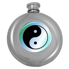 Ying Yang  Hip Flask (Round)