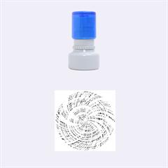 Happy Aqua Rubber Round Stamps (Small)