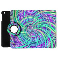 Happy Aqua Apple iPad Mini Flip 360 Case