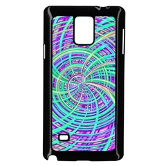 Happy Aqua Samsung Galaxy Note 4 Case (Black)