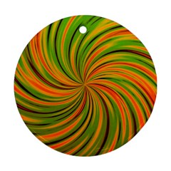 Happy Green Orange Ornament (Round)