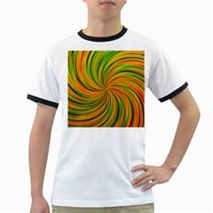 Happy Green Orange Ringer T Shirts