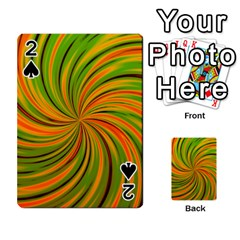 Happy Green Orange Playing Cards 54 Designs