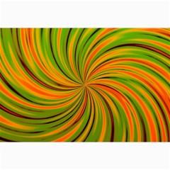 Happy Green Orange Collage 12  X 18
