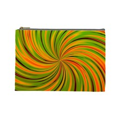 Happy Green Orange Cosmetic Bag (Large)