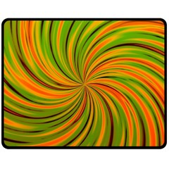Happy Green Orange Fleece Blanket (medium)