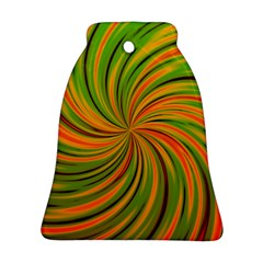 Happy Green Orange Bell Ornament (2 Sides)