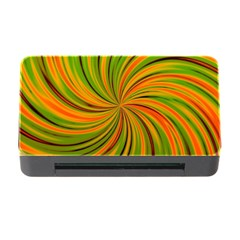 Happy Green Orange Memory Card Reader With Cf