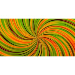 Happy Green Orange YOU ARE INVITED 3D Greeting Card (8x4)