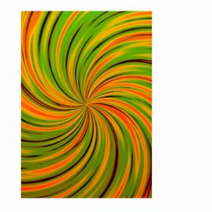 Happy Green Orange Large Garden Flag (two Sides)