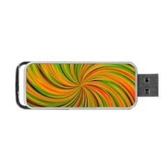 Happy Green Orange Portable Usb Flash (two Sides)